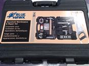 BLUE HAWK Tool Box with Tools 0420139 HOUSELHOLD MAINTENANCE TOOL SET